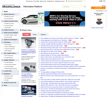 HOME | Automotive Industry Portal MarkLines | Portal
