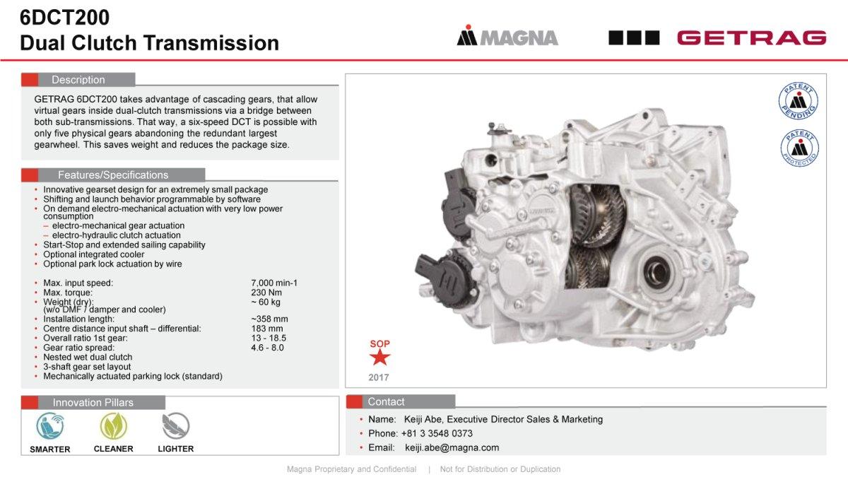 Magna PT B V  & Co  KG (Formerly Getrag B V  & Co  KG) - MarkLines