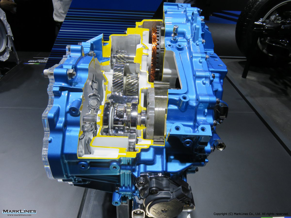 2-motor FWD hybrid transmission for small torque capacity application