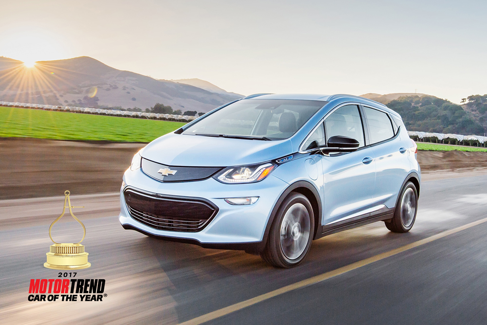 Chevrolet Bolt Ev Is Motor Trend Car Of The Year Marklines Automotive Industry Portal