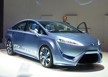 FCV-R, which is a fuel-cell vehicle concept that Toyota aims to launch as a sedan