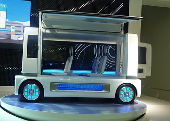 FC show CASE, which is Daihatsu's fuel cell vehicle concept that is powered by liquid fuel