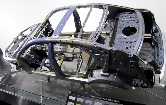 Body frame of the 2013MY Cadillac ATS