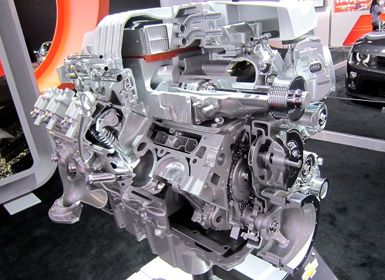 6.2-liler V8 supercharged gasoline engine that is used in the Chevrolet Camaro ZL1