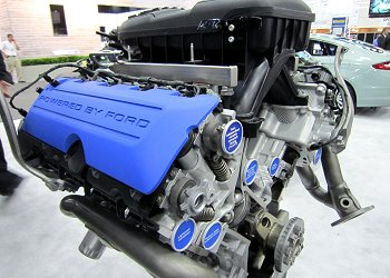 A 5-liter V8 engine to be used in Mustang BOSS302