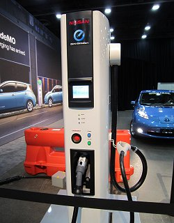 Compact rapid charger developed by Nissan