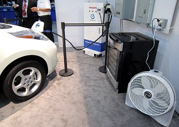 A system that supplies electricity to home appliances from the battery of the LEAF