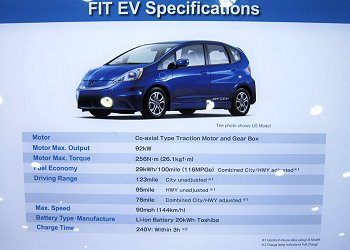 FIT EV specifications