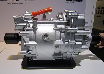 A gearbox coaxial motor that is used in the FIT EV
