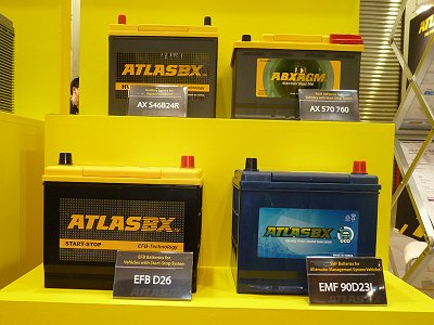 Lead-acid batteries exhibited by ATLASBX of Korea
