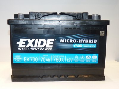 AGM type lead-acid batteries for micro-HVs in Europe