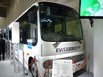 Electric bus on test run
