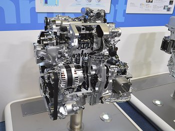 Nissan 1.2-liter engine with supercharger