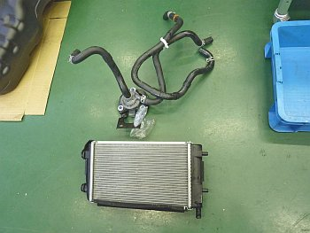 PCU radiator, water pump
