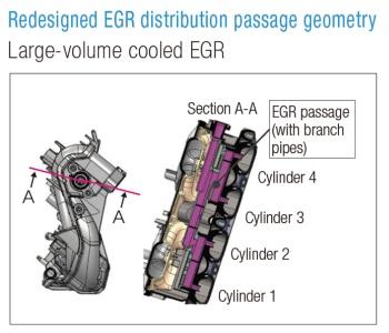 Intake manifold cross-section