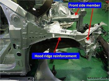 Hood ridge reinforcement