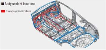 Body sealer application area