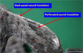 Perforated sound insulation
