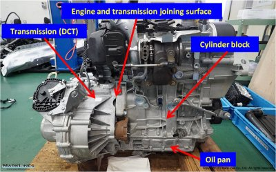 Engine joined with the