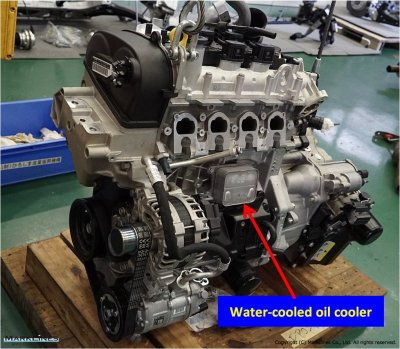 Water-cooled oil cooler