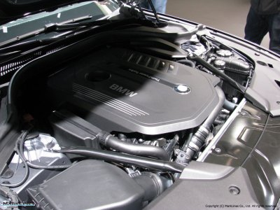 BMW 540i Engine Compartment
