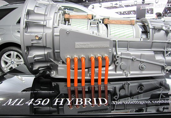 Daimler: 2 Mode Hybrid Module used on ML450