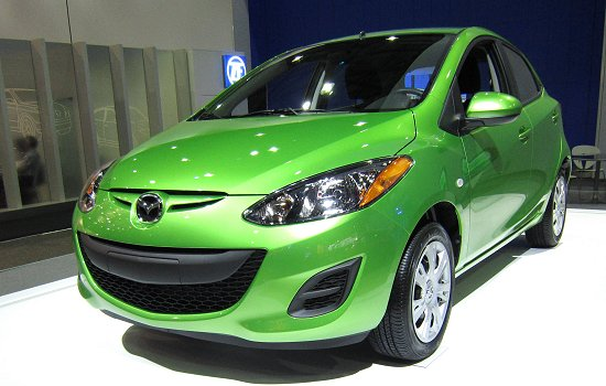 Mazda2 which Mazda introduced into the US market in 2010.
