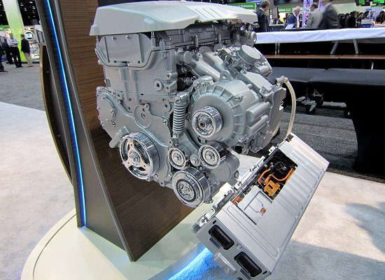 Engine, control unit, and generator/motor used in Buick Regal eAssist