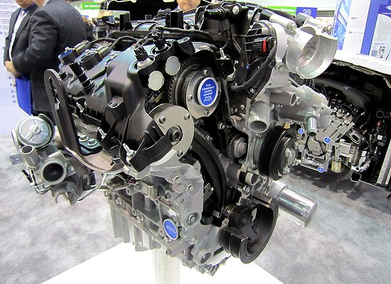 V6 3.5L water-cooled twin turbo EcoBoost engine