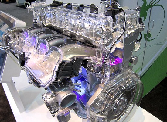 Exterior of THETA2 2.0 Turbocharged GTI engine for the Sonata