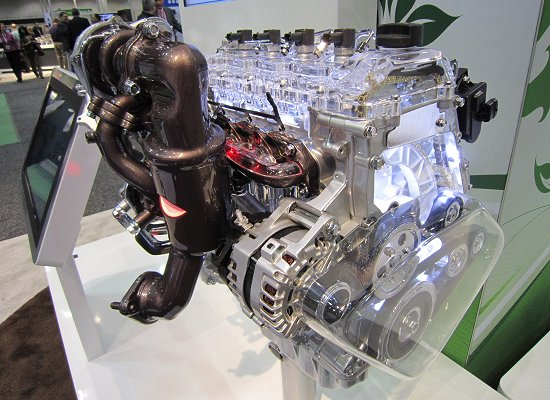 Exterior of U2-1.7L 2 Stage Turbo Diesel engine