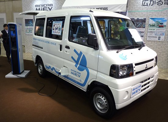 Mitsubishi's mini commercial vehicle EV, Minicab-MiEV, which is scheduled to be launched in 2011