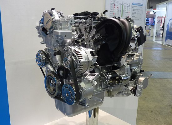SKYACTIVE-G 1.3 engine that has achieved a compression ratio of 14.0