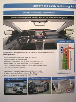 Honda LaneWatch information board