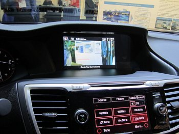 LaneWatch image display on center console