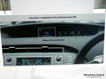 Sample display of Toyota HMI