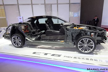 Cutaway models of the CT6 PHEV