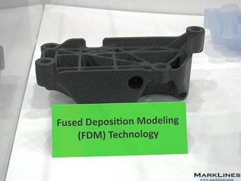 3-D printed component made from FDM