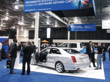TU-Automotive Detroit exhibition floor