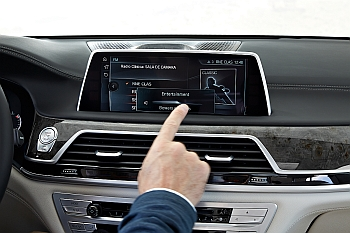 Image of gesture control usage to adjust volume controls