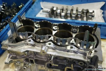 Water jacket spacer inserted in the cylinder block