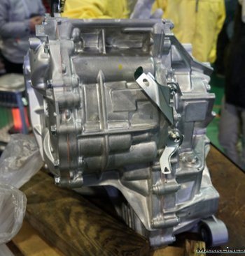 External view of the hybrid transaxle