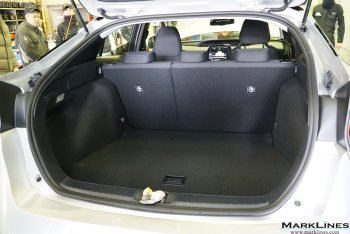 High-voltage battery stored under the rear seats to create larger luggage room