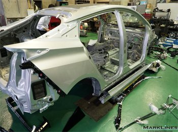 Body structure of the new Prius