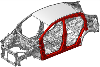 Looped body side structure