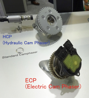 Photo 4  External views of electric (ECP) and hydraulic  (HCP) cam phasers