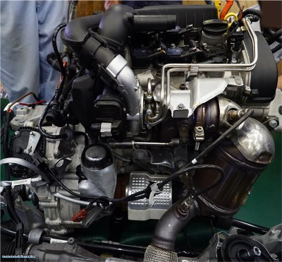 Turbocharger installed in