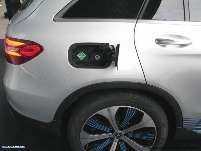 Mercedes-Benz GLC F-Cell hydrogen refueling receptacle